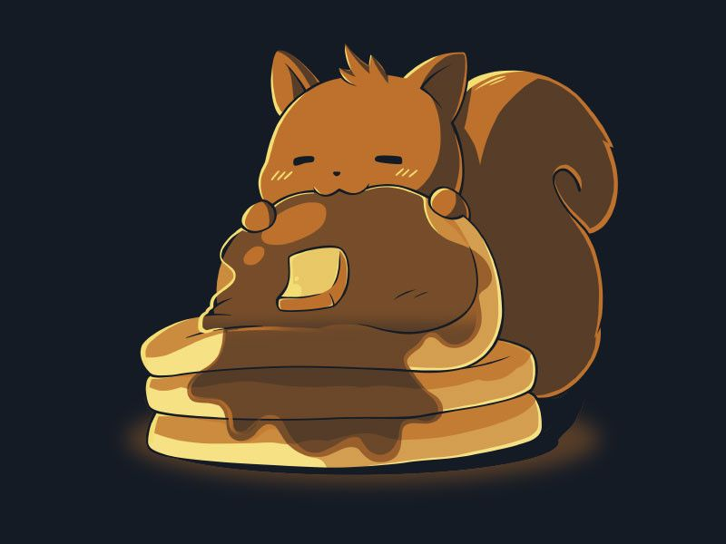 The perfect time for pancakes is all the time! Get the Breakfast at Midnight t-shirt only at TeeTurtle!