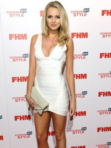 Herve Leger Sightings: Ianthe Rose Cochrane-Stack at the FHM 100 Sexiest Women in the World party in London