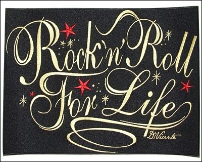 Free Printable Rock And Roll Signs Woven Iron On Back Patch Rock