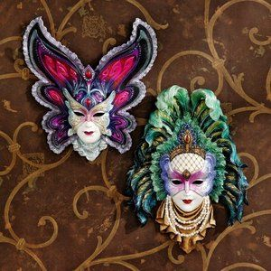 Wall Mask Decor Extraordinary Design Toscano Inc Maidens Of Mardi Gras Wall Mask Sculptures Inspiration