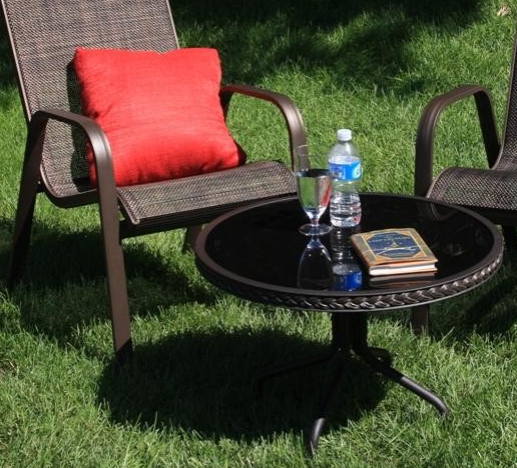 Sun Lounger Side Table (Glass). | Outdoor furniture sets ...