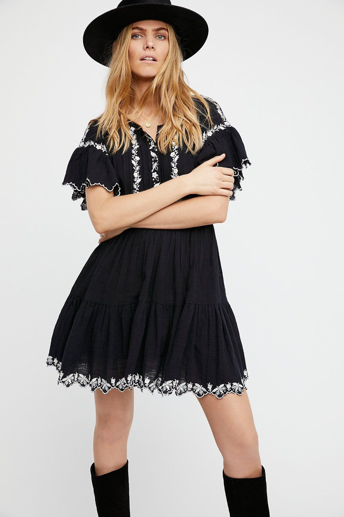0636cf6e41f Santiago Embroidered Mini Dress