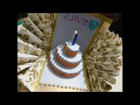 Explosion Pop Up Card Birthday Theme By Srushti Patil Youtube Birthday Cake Pops Card Tutorial Happy Birthday Cakes