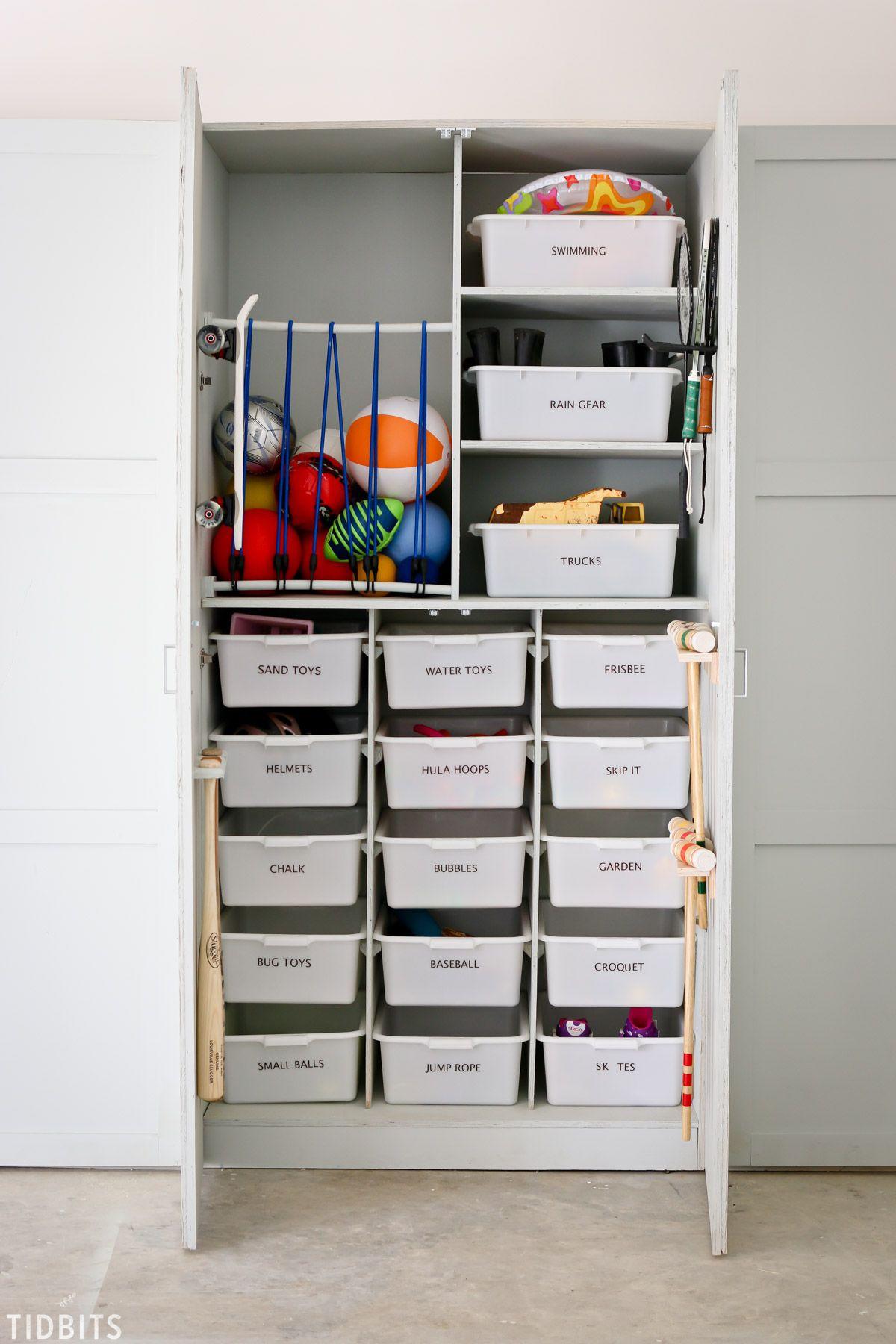 Garage Toy Storage & Organization - Tidbits