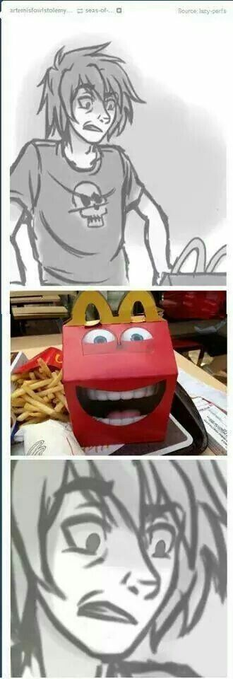 Nico does not approve of the new Happy Meal boxes.