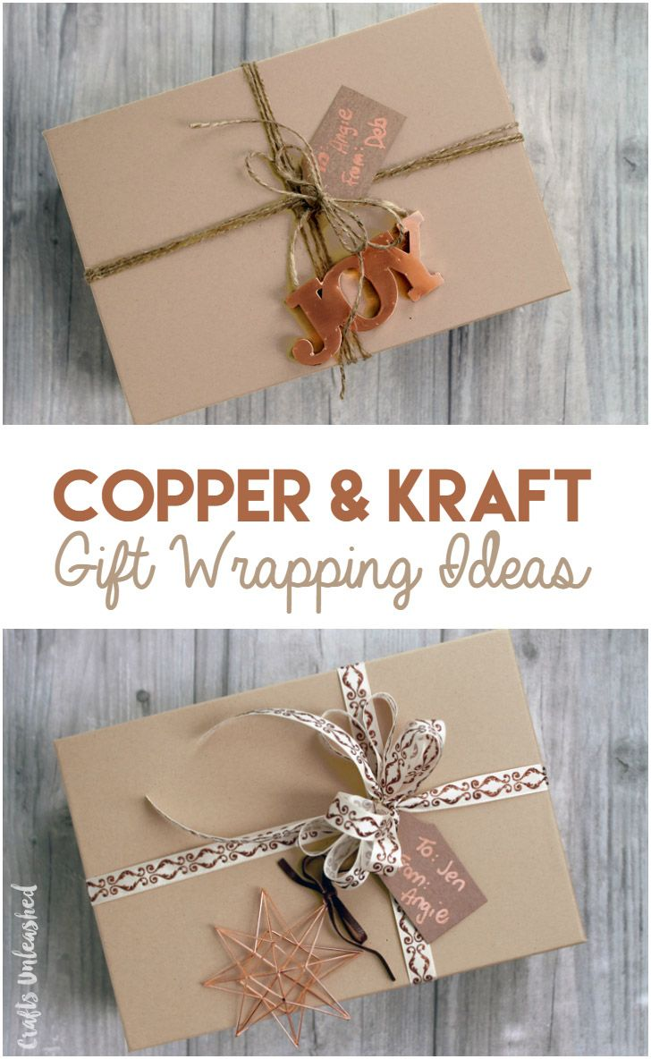 diy gift wrapping ideas copper kraft consumer crafts the group