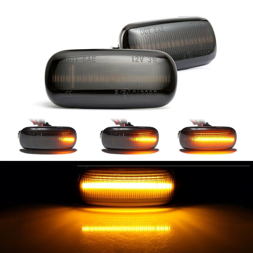 2 Pieces Led Dynamic Side Marker Light Turn Signal Light Sequential Blinker Light For Audi A3 S3 8p A4 B6 B8 B7 S4 Rs4 A6 S6 C5 Pieces Audi Audi