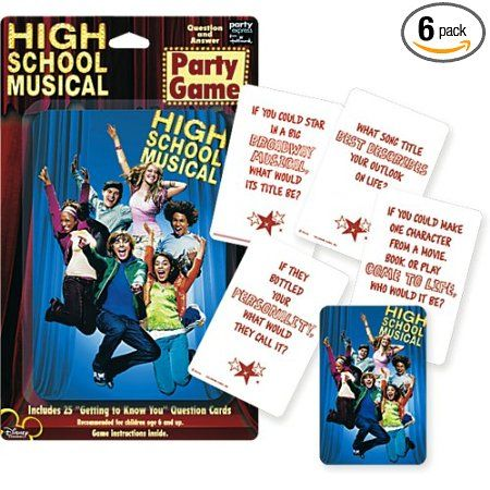 Amazon High School Musical Party Game Pack Of 6 Health