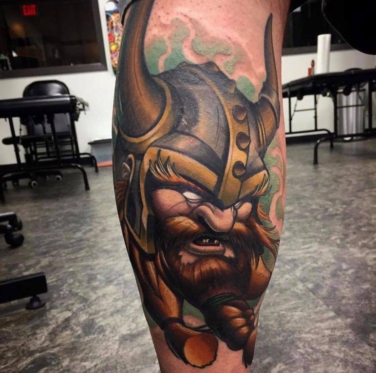 430fcbb8d My finished new school viking calf tattoo by Tim Stafford, Pigment Tattoo in  Austin,