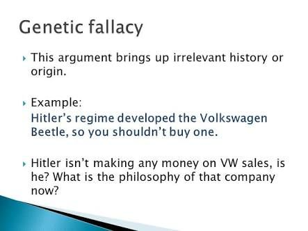 Image Result For Genetic Fallacy Examples Art Of The Argument