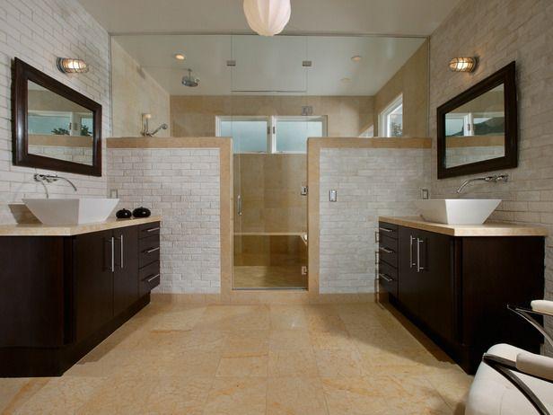 12 Bathrooms Ideas You Ll Love Neutral Colors Natural Materials And A Symmetrical Floor Plan Contribu Bathroom Layout Master Bathroom Layout Bathroom Design