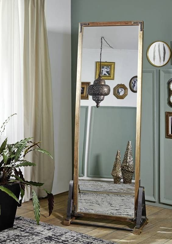 20er Jahre Möbel Versandfrei Kaufen Standspiegel Altholz