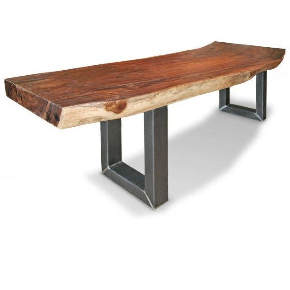 Suar boomstamtafel metalen poot | Miltonhouse Voordelig meubelshoppen