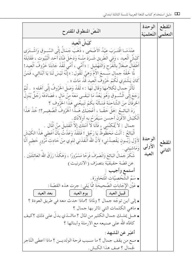 نص كبش العيد السنة الثالثة ابتدائي الجيل الثاني فهم المنطوق Http Www Seyf Educ Com 2017 10 Kabch Laid 3ap Html Math Bullet Journal Journal