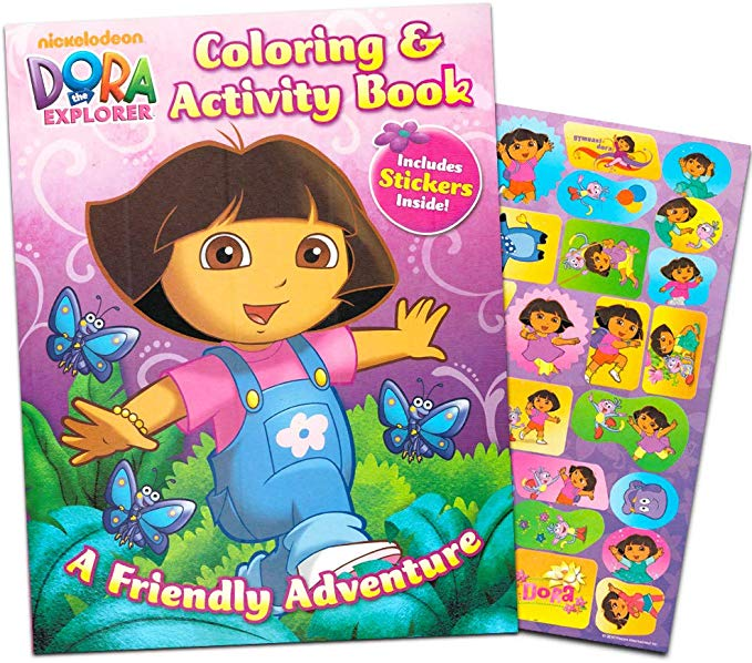 Amazon Com Dora The Explorer Giant Coloring Book With Stickers 144 Pages By Bendon Publishing Toys Dora The Explorer Dora And Friends Explorers Activities