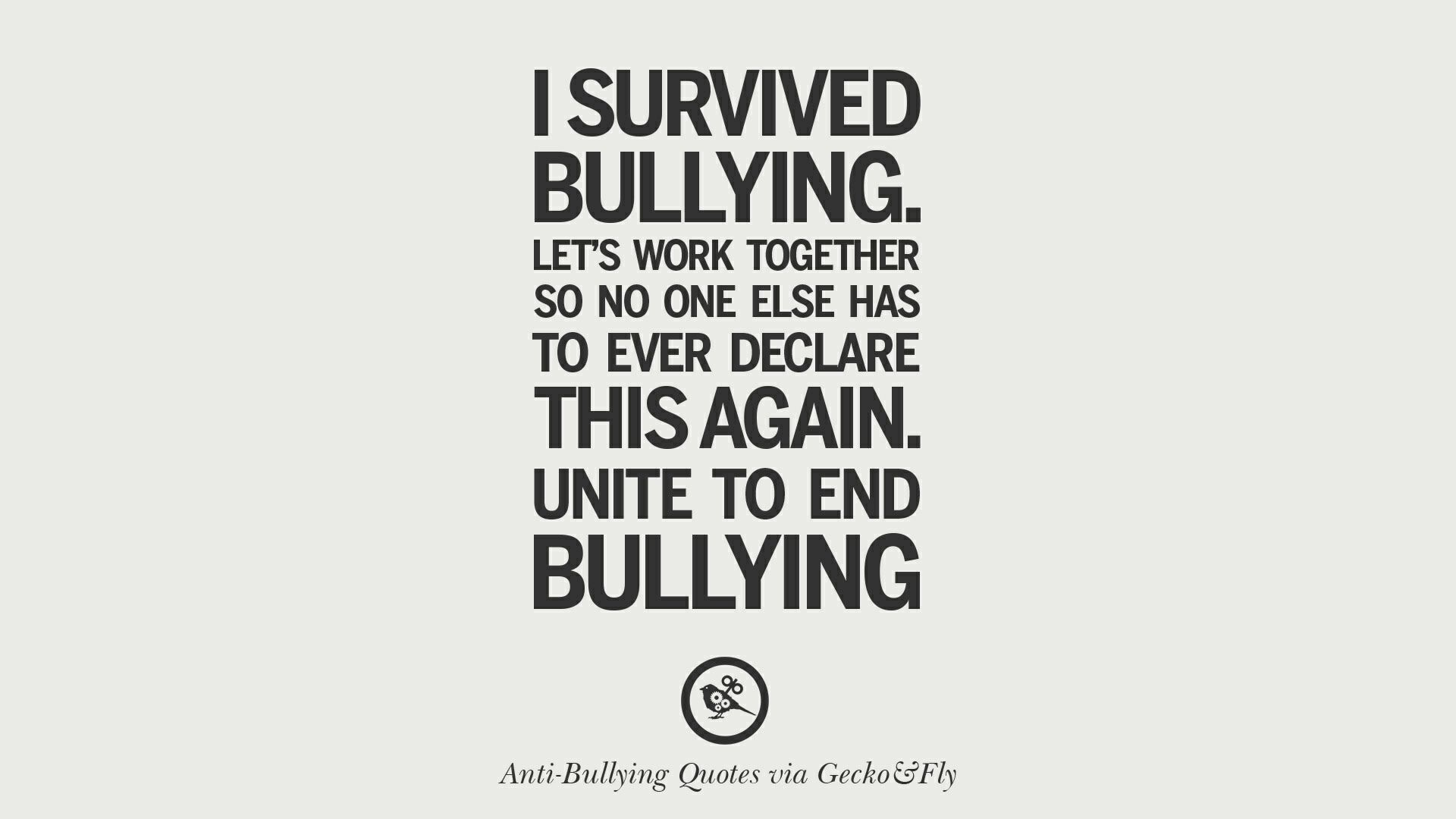 Let S Unite To End Bullying Bullying Antibullying Survivors Teamwork Unifiedcommunication Bullying Quotes Cyber Bullying Quotes Anti Bully Quotes