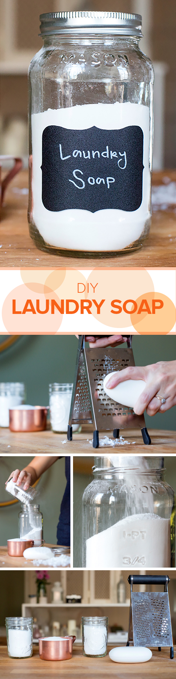 You can make your own laundry soap in just a few steps.