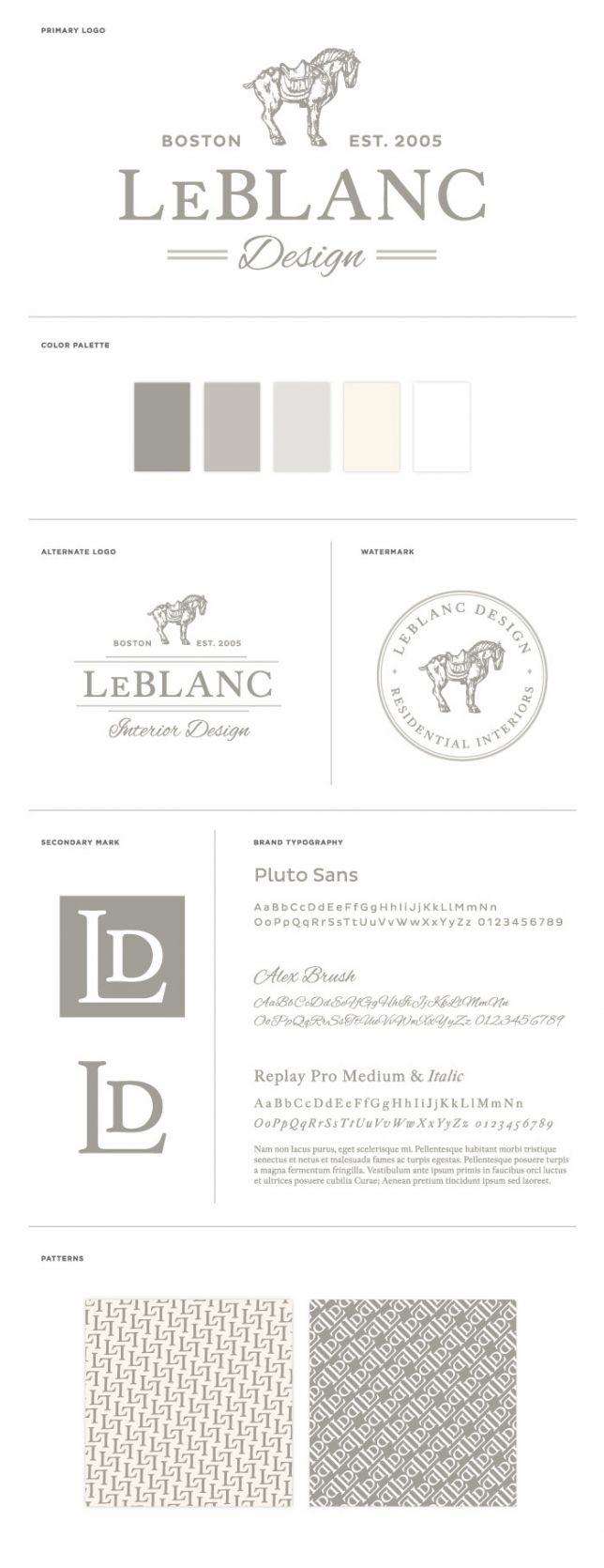Leblanc Interior Design Branding And Identity Design By Braizen Layout Pinterest Fonts