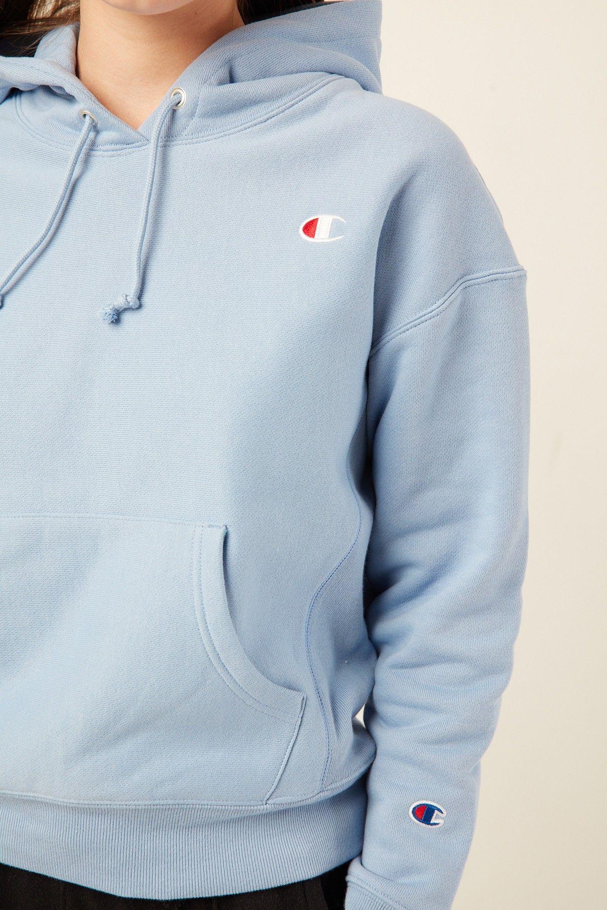 baby blue champion hoodie