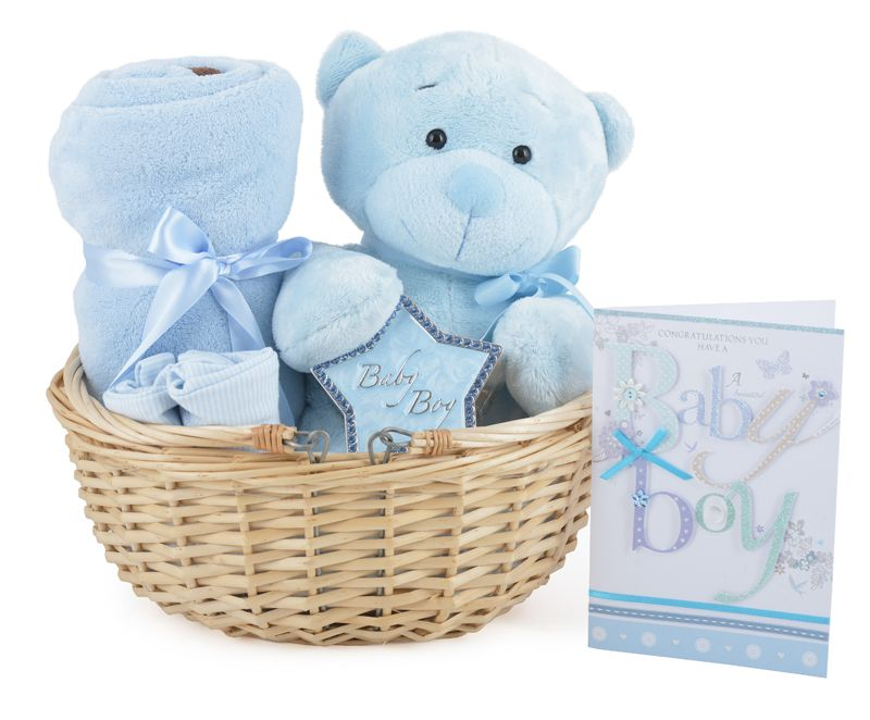 Gorgeous Baby Boy Gift Basket available online at http://www ...