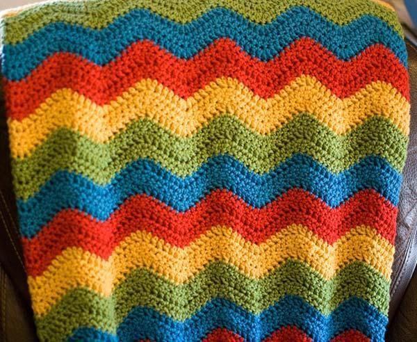You Have To See Colorbox Ripple Afghan By Nicole Ross Crochet