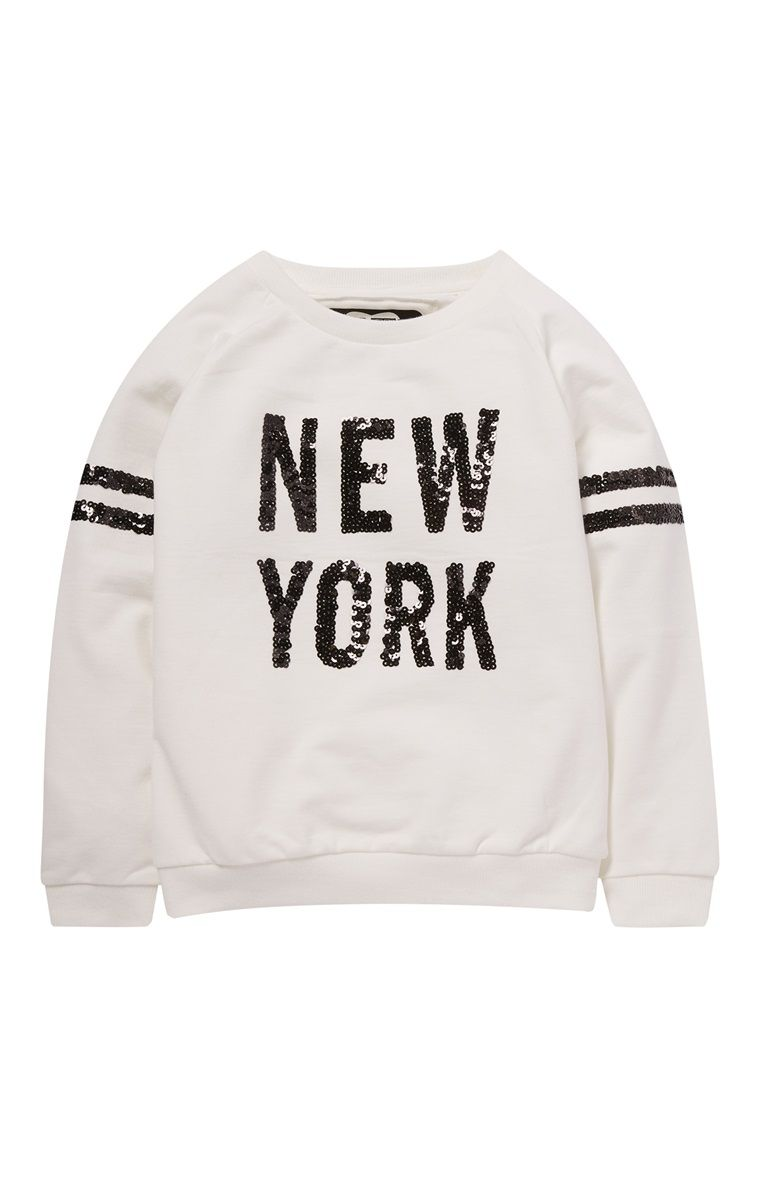 da539a11 White New York Sequin Jumper | My kids checklist | Fashion, Clothes ...