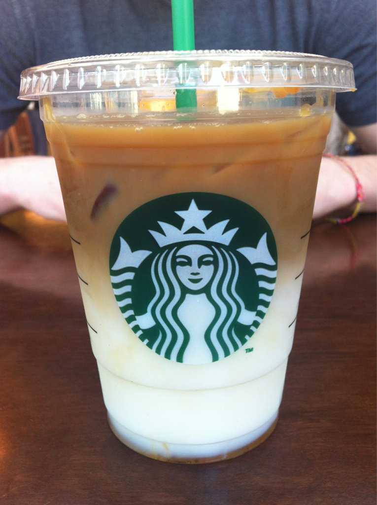 My Favorite Starbucks Drink Iced Caramel Macchiato