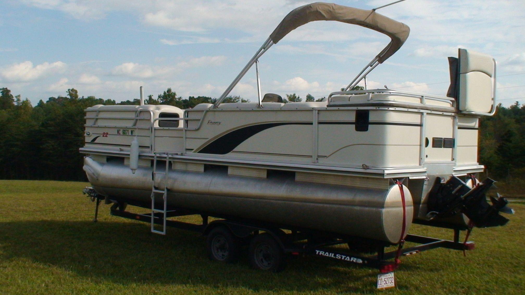 Sun Tracker Pontoon Boats | Sun%20Tracker Pontoon (Tan) | Tan 2001 ...