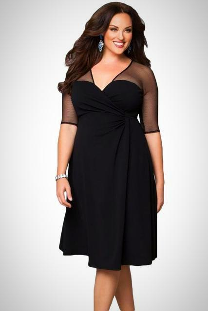 Ladies Plus Size Elegant Party Dress In 2018 Fall Outfits