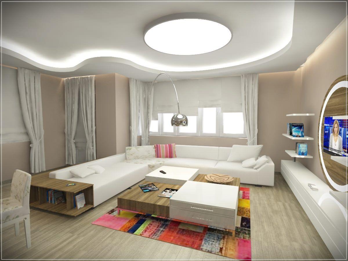 Modern ah ap tavan tasar m ile yatak odas dekorasyonu - Asma Tavan