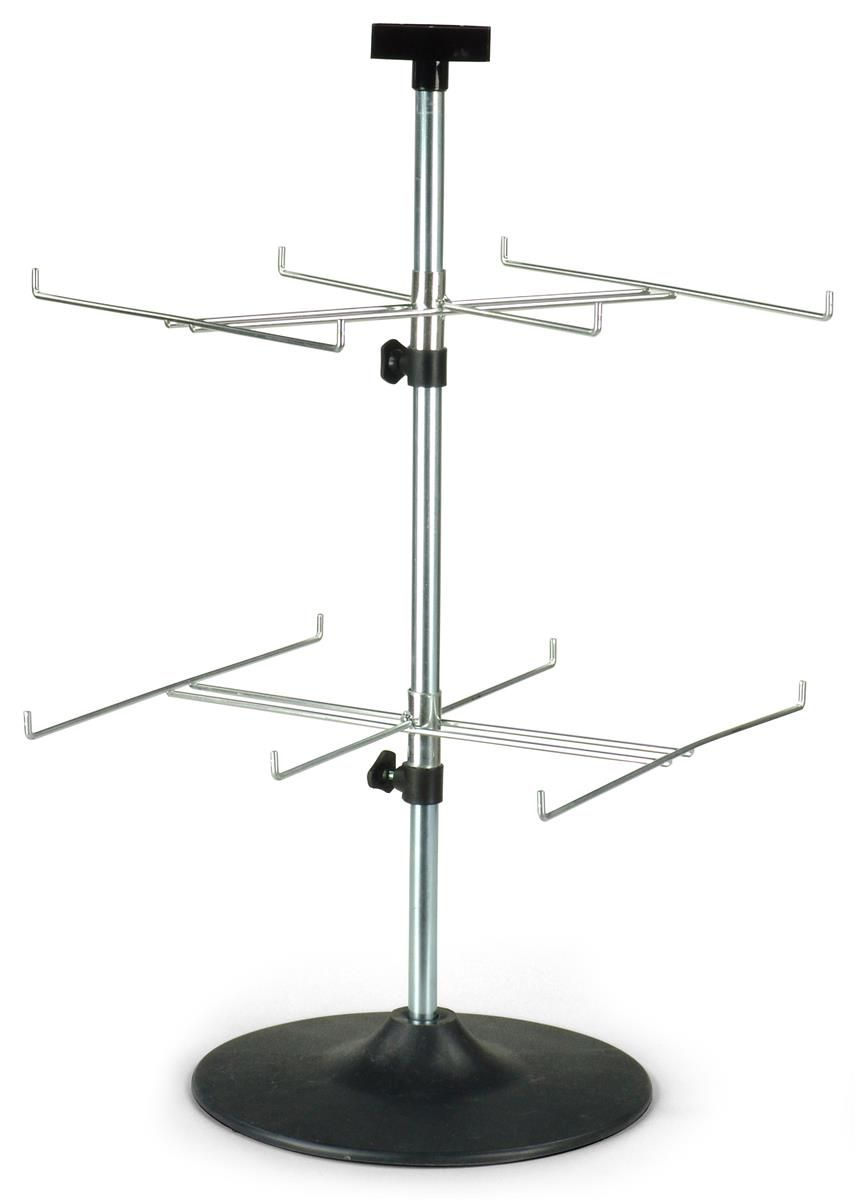Countertop Spinner Rack For Blister Packs 2 Rotating Tiers 12
