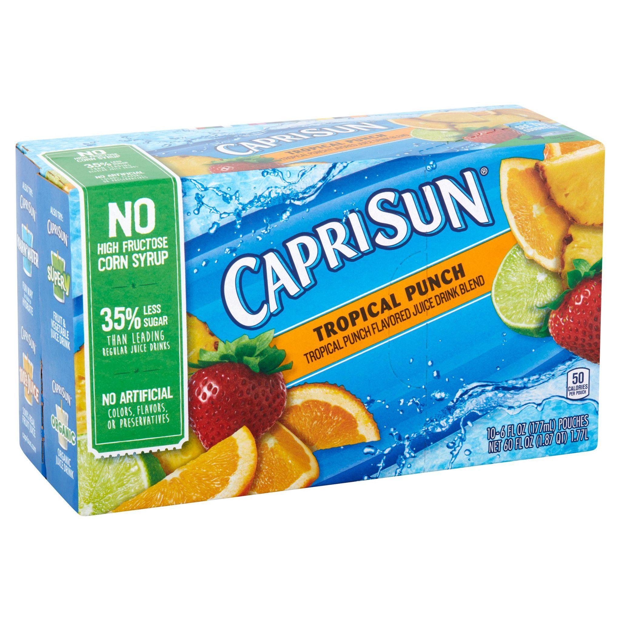 Capri Sun Tropical Punch Juice Drink Blend, 10 count, 60 FL OZ ...