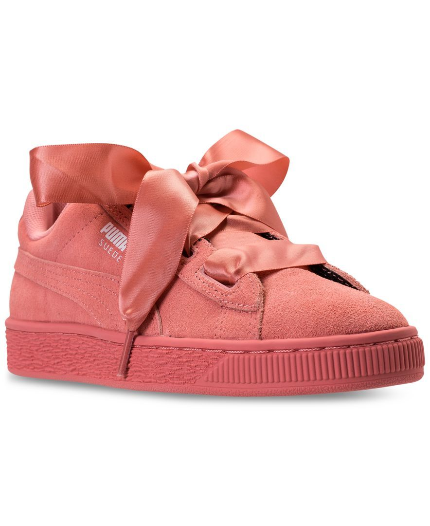 11c8c70e316e Puma Big Girls  Suede Heart Casual Sneakers from Finish Line Kids - Finish  Line Athletic Shoes - Macy s