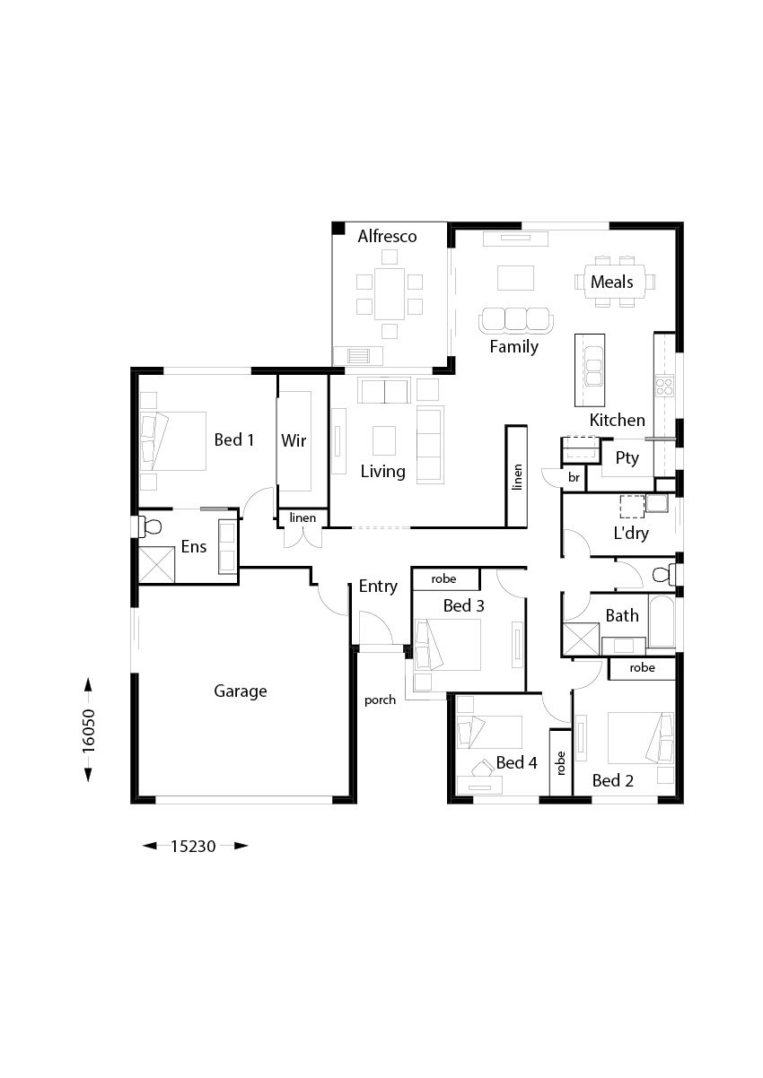 Infinity 217 Home Design Single Storey Hallmark Homes Hallmark Homes Free House Plans Three Bedroom House Plan