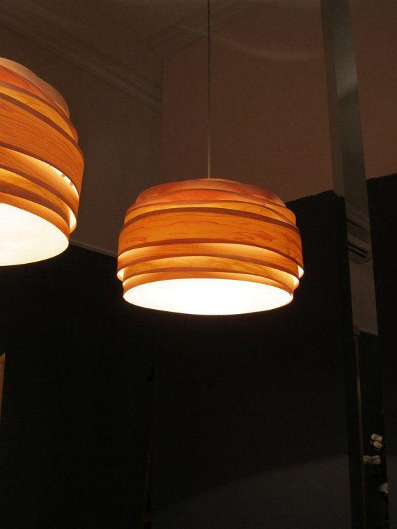 Modern light pendant light light cloud maple wood veneer lamp light cloud veneer lampshade by vayehi on etsy aloadofball Choice Image
