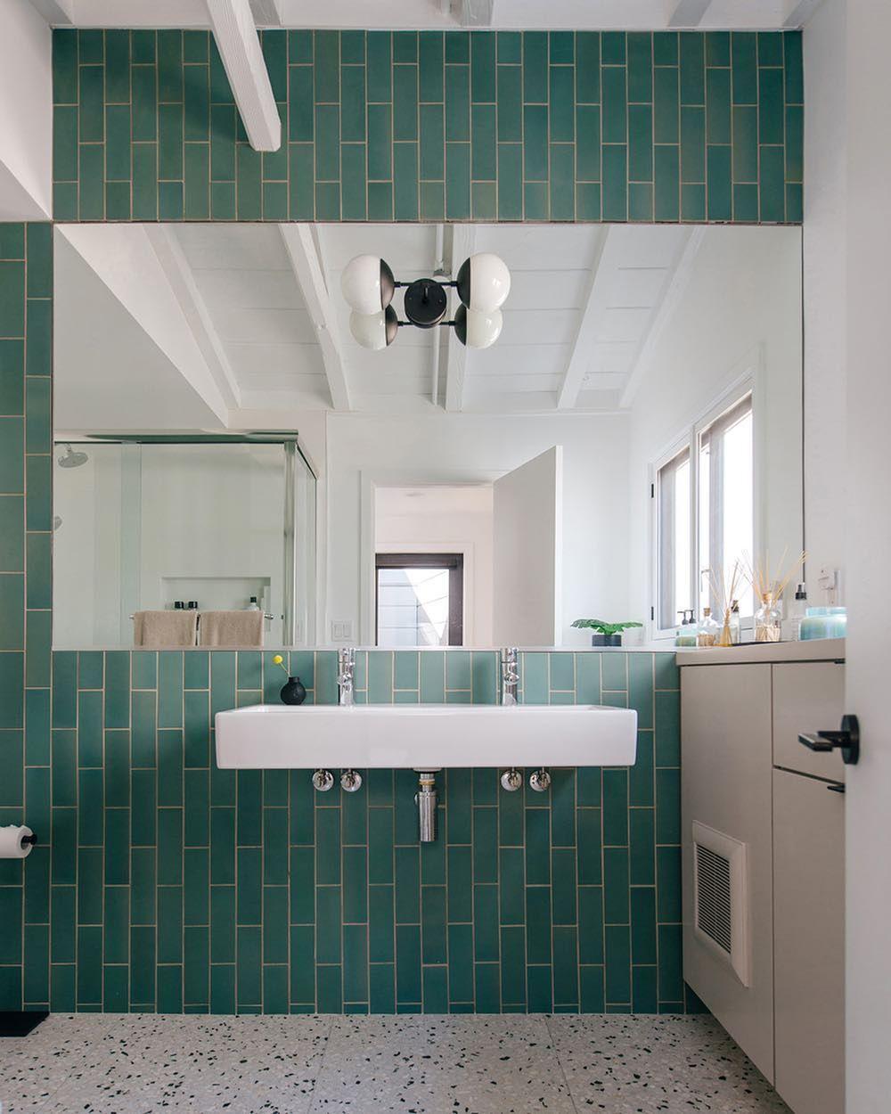 Cathy Robin At Heath On Instagram Our Latest Favorite From Tilemakestheroom Our Tile In Kpfa Green A Classic Bathroom Design Bath Design Creative Bath