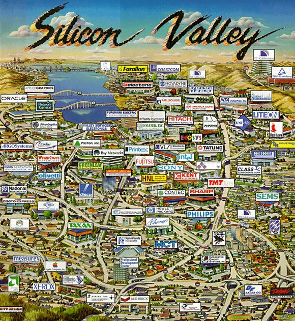 Silicon Valley Karte.7 Characteristics Of Silicon Valley You Won T Find In Asia