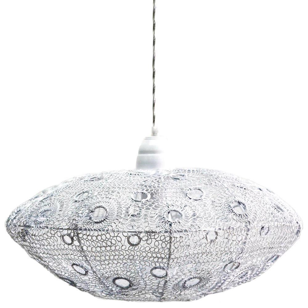 Ornate Wire Netting Pendant – White | Products | Pinterest ...