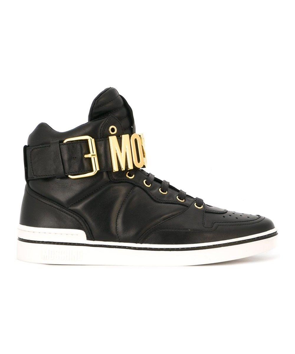 Moschino Black Logo High-top Sneakers