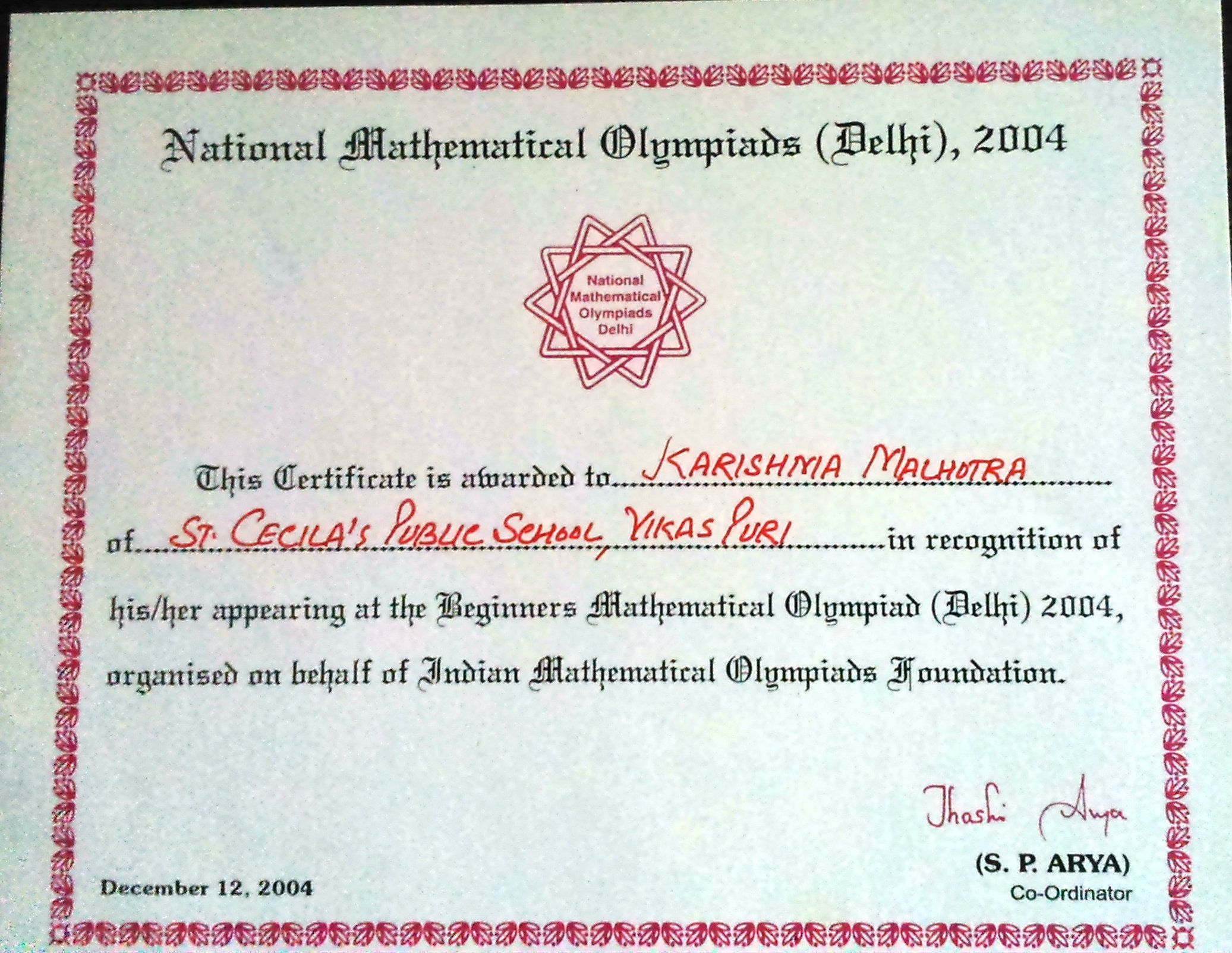 Maths Olympiad Math Olympiad Math Recognition