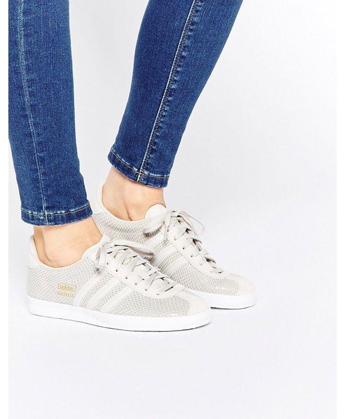 Adidas Originals Grey Gazelle Trainers | Adidas gazelle grey, Grey ...