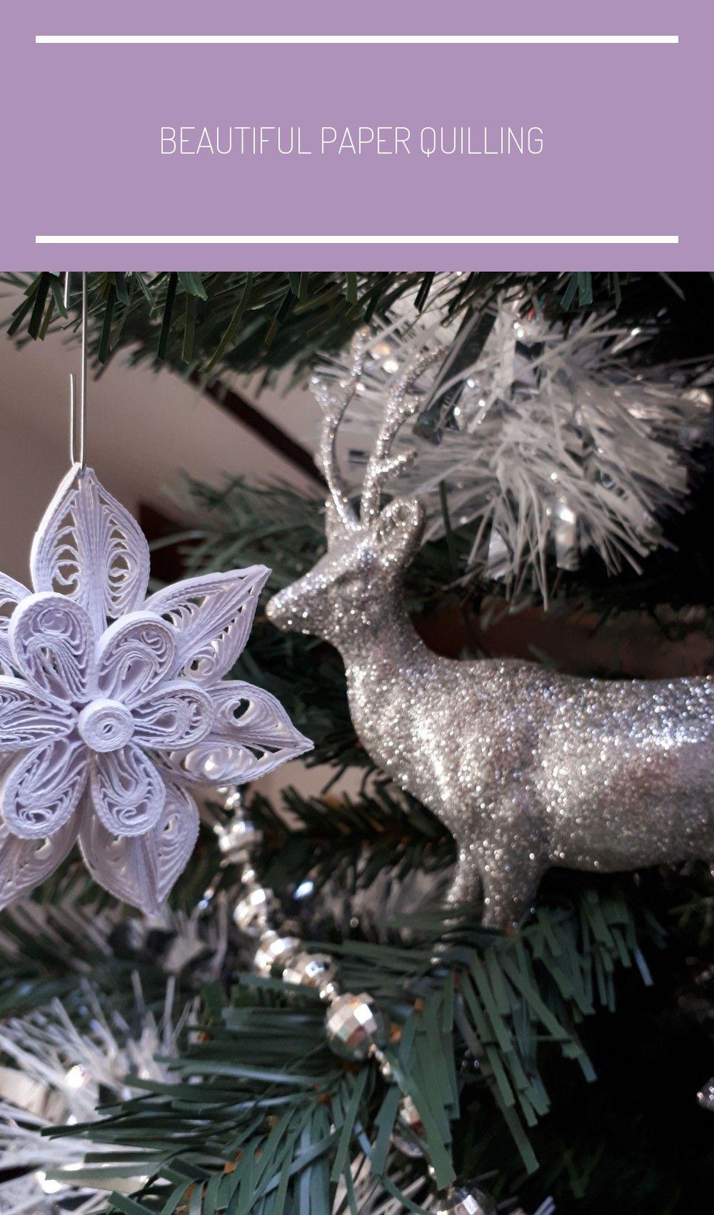 Photo of De beaux flocons de neige en papier quilling qui ont fière allure sur votre Chri