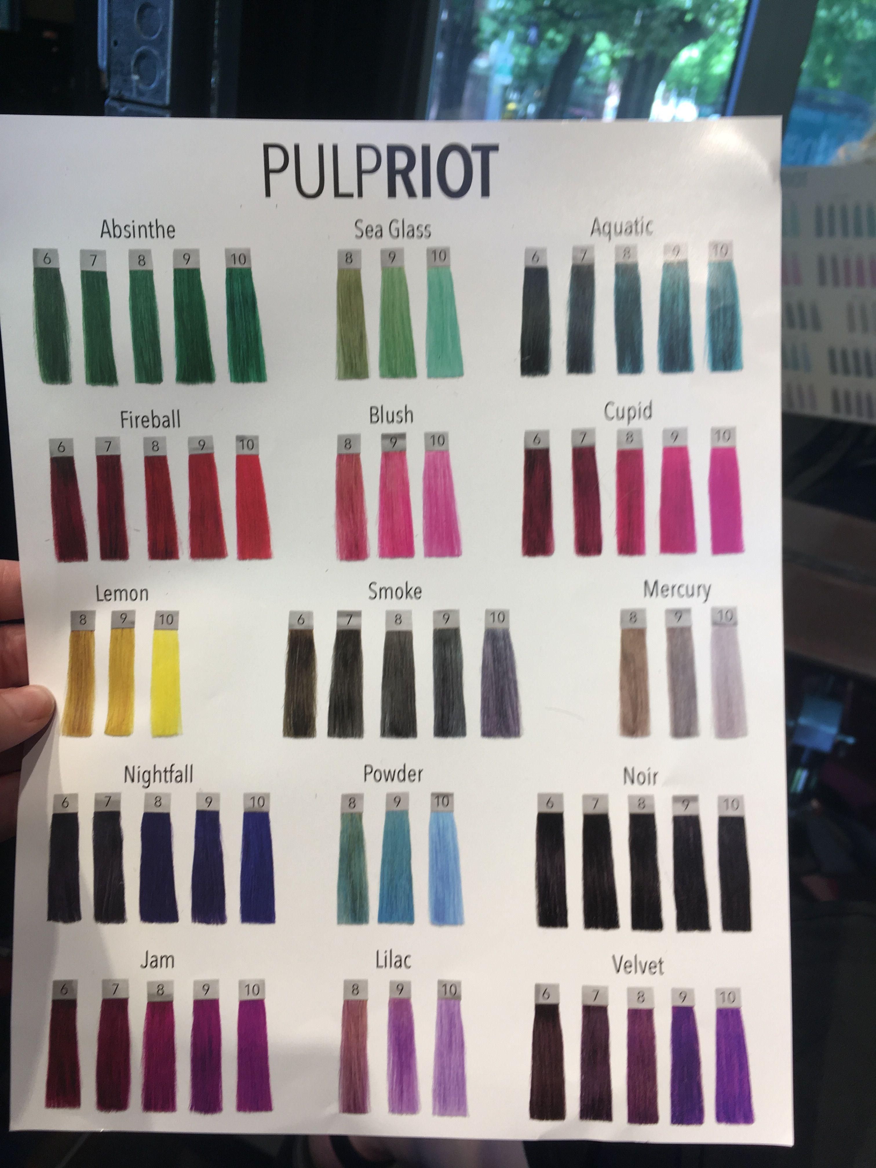 Pulp Riot Color Options