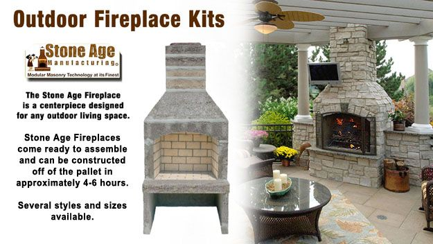 Small Outdoor Fireplace Kits Kit By Stone Age Manufacturing
