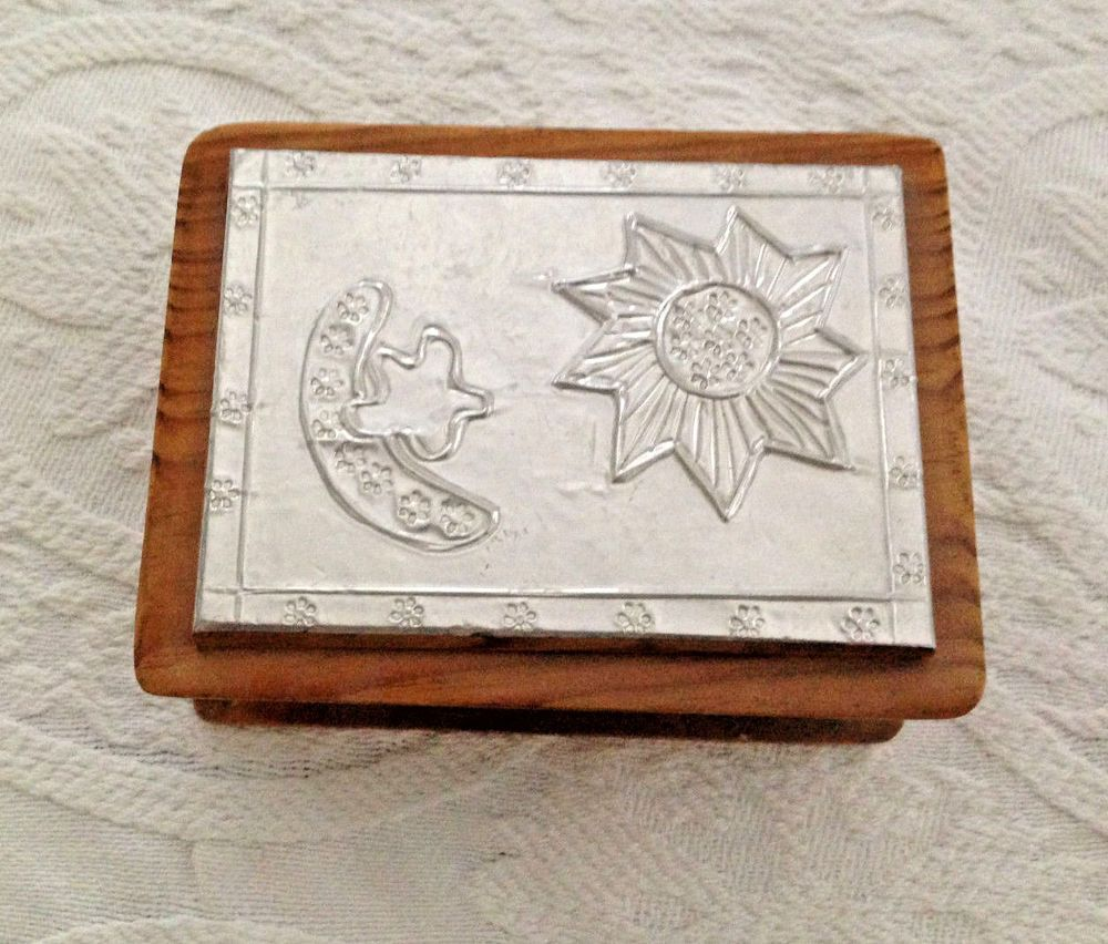 Handmade Decorative Boxes Details About Handmade Decorative Etched Silver Tone Rustic