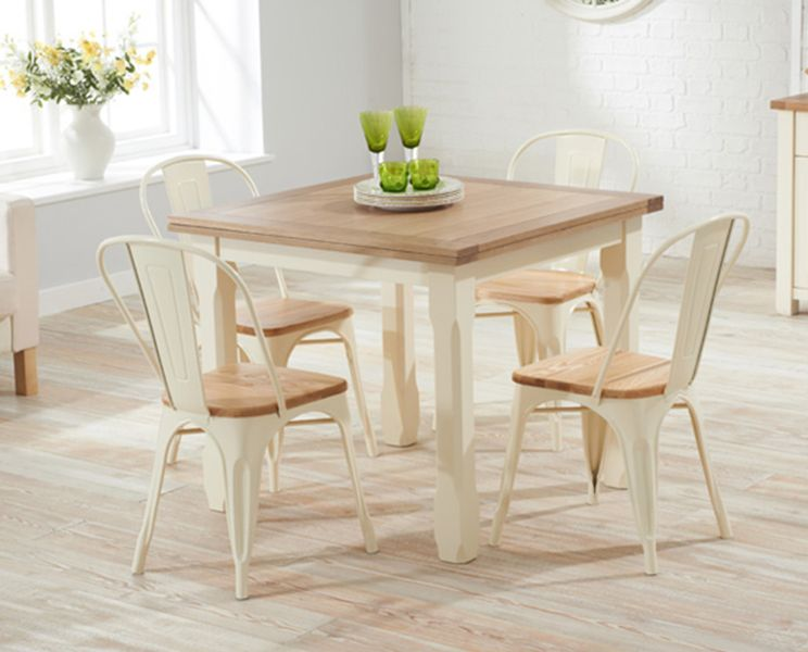 Buy The Somerset 90Cm Flip Top Oak And Cream Dining Table With New Cream Dining Room Furniture Review