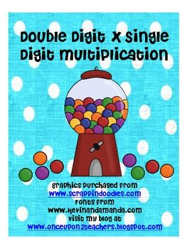 Students will solve double digit x single digit multiplication problems. They will show their work for each problem, but can check their answers by...
