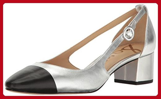 71e62ee09f3 Sam Edelman Women s Soft Silver Black Leah Cutout Block Heel - 8.5 B(M) US  - All about women ( Amazon Partner-Link)