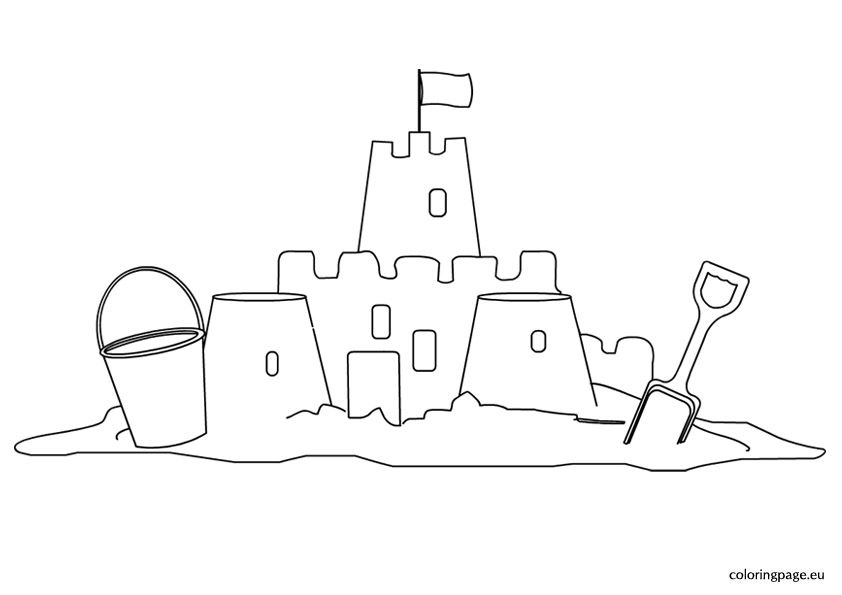 sand beach coloring pages - photo#23