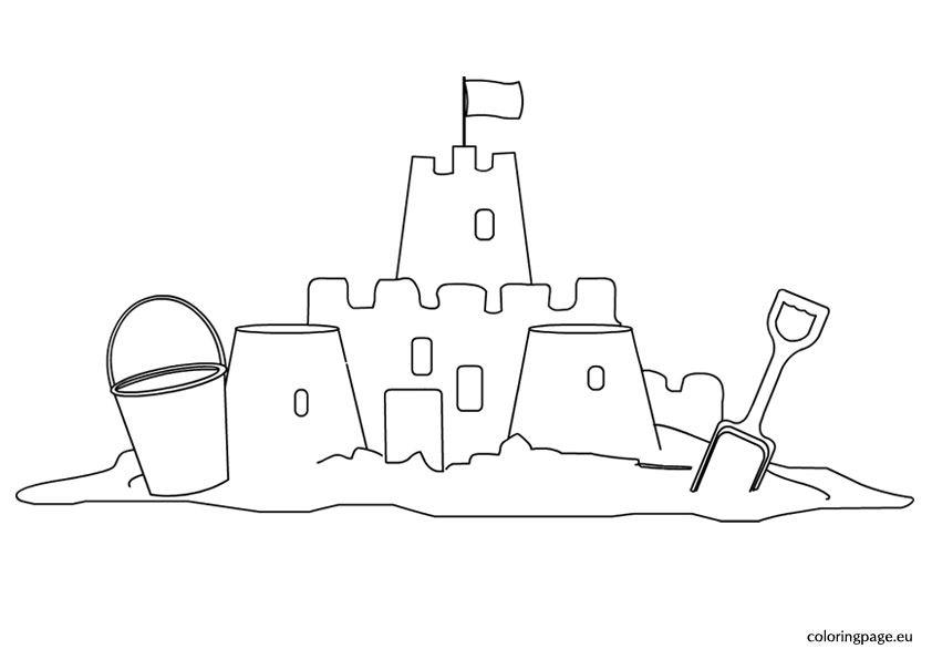 Sand Castle Coloring Page Quilts Castle Coloring Page